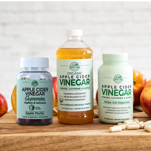 Apple Cider Vinegar Tonic, Capsules & Gummies
