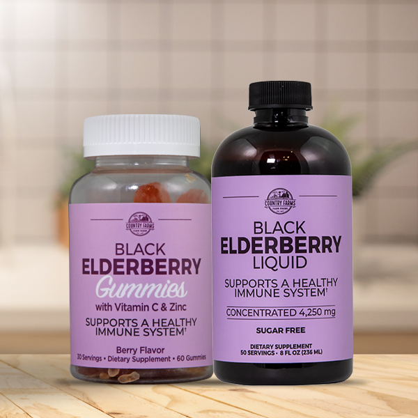 Elderberry Gummies, Liquid & Wafer