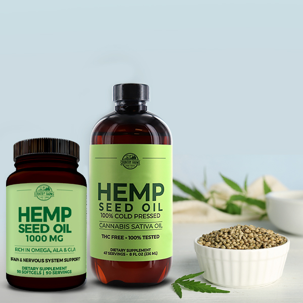Hemp Seed Oil Liquid & Softgels