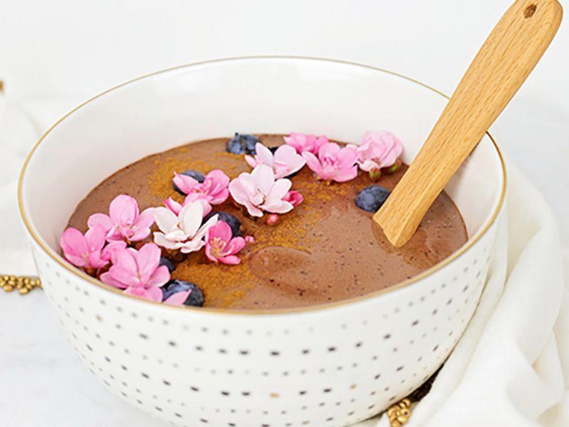 Blueberry Chocolate Energy Bowl